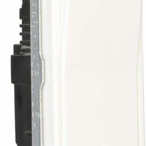 Leviton 5601-2W 15 Amp, 120/277V Decora Rocker Single-Pole AC Quiet Switch, Residential Grade, Grounding (10-Pack), White, 10 Piece