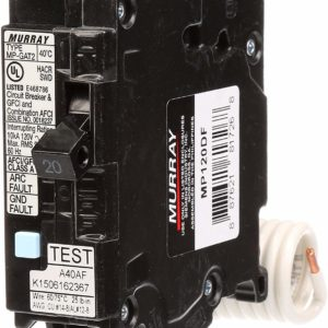 Murray MP120DF 20-Amp AFCI/GFCI Dual Function Circuit Breaker, Plug on Load Center Style by Siemens