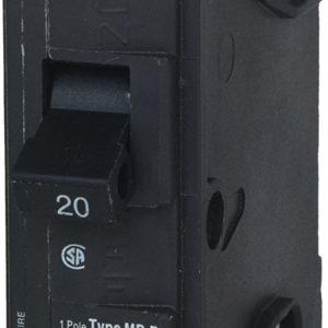 MP120 20-Amp Single Pole Type MP-T Circuit Breaker by Murray