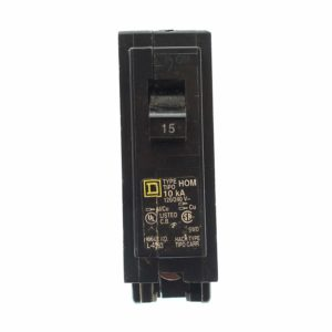 Plug in Circuit Breaker, 15A, 1P, 10Ka, 120V  by Square D