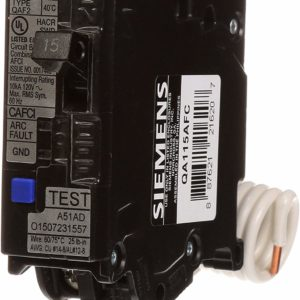 Siemens QA115AFC 15-Amp Single Pole 120-volt Plug-On Combination AFCI