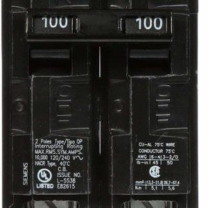 Q2100 100-Amp Double Pole Type QP Circuit Breaker by Siemens