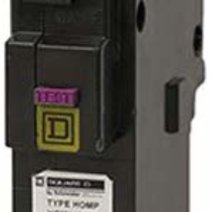 Square D by Schneider Electric HOM115PDFC Homeline Plug-On Neutral 15 Amp Single-Pole Dual Function