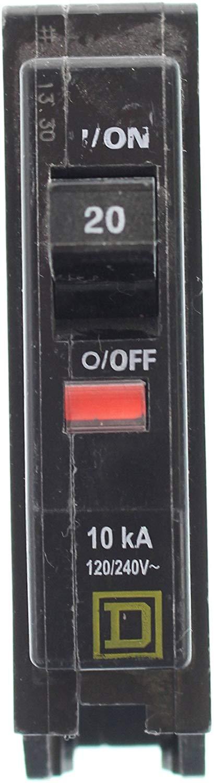SQUARE D QOB120 20 AMP SINGLE POLE BOLT IN CIRCUIT BREAKER