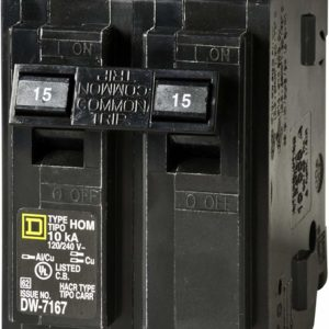 Square D by Schneider Electric HOM215CP Homeline 15 Amp Two-Pole Circuit Breaker by Square D by Schneider Electric