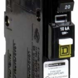 Square D by Schneider Electric QO120PCAFI 20-Amp Single-Pole Plug-On Neutral CAFCI Circuit Breaker by Square D