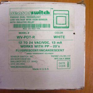 Sensor Switch WV-PDT-R Wide View Senor White 12/24 VAC by Sensor Switch 1pc