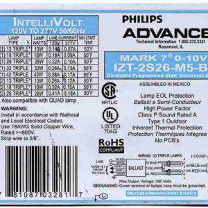 Advance IZT-2S26-M5-BS Mark 7 Electronic Flourescent Ballast, 0-10V, CFL by Advance Ballast